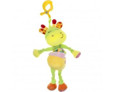 Akuku plyšová s hracím strojkem žirafka žlutá