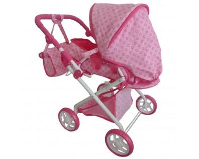 Baby Mix 2v1 růžový s kytičkami