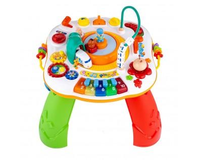 New Baby Mluvící a hrající interaktivní stoleček s jezdícím vláčkem CZ/SK