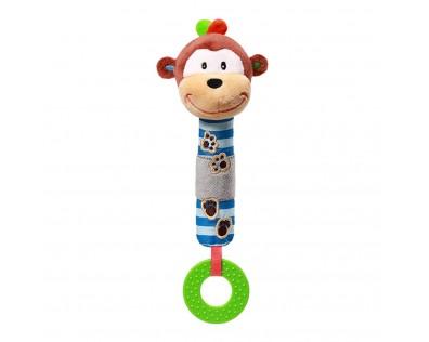 BabyOno Pískací plyšová hračka zvířátko Opička George