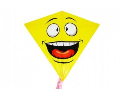 Wiky Drak létající smajlík plast 68 x 73cm v sáčku