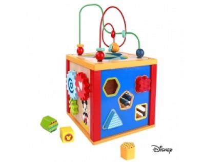 Derrson Disney Dřevěná multifunkční kostka Mickey 5v1