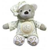 Baby Mix Plyšový medvídek v čepičce s projektorem  SKLADEM
