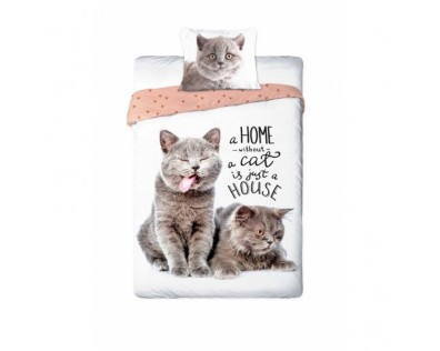 Faro povlečení Best Friends Kočka hnědá - bavlna 140x200 70x90