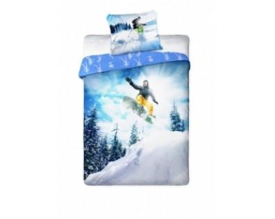 FARO Povlečení Snowboardista Bavlna 140x200 70x90