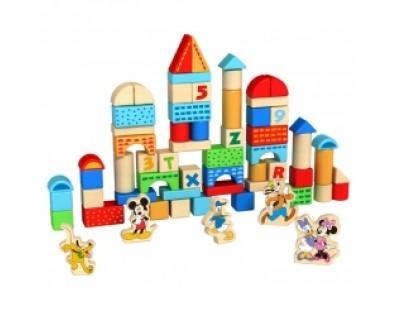 Derrson Disney Dřevěné kostky 100 ks Mickey