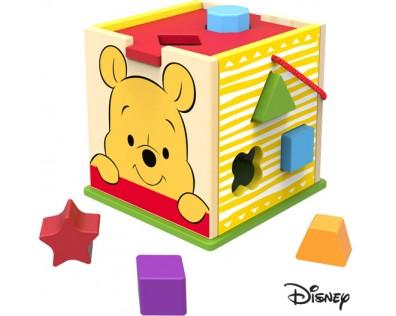 Derrson Disney dřevěná kostka s tvary Medvídek Pú